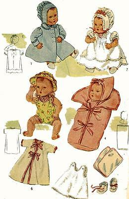Vintage Doll Clothes PATTERN 4830 for 15 in Baby Dolls like Betsy Wetsy by Ideal