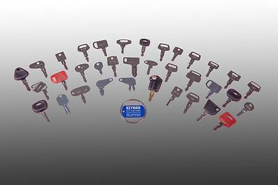 Operator Equipment Key Set-Excavator-Backhoe-Dozer-Skid Steer-CAT-Deere-Bobcat
