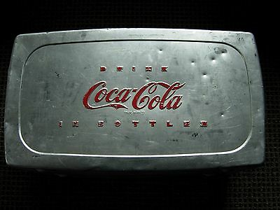 Coca Cola Cooler Ice Chest 1960's Aluminum Drink Coke Bottles Cans