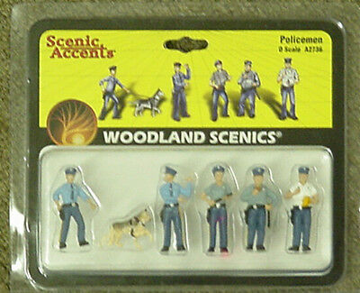 O scale POLICEMEN Woodland Scenics People 2736