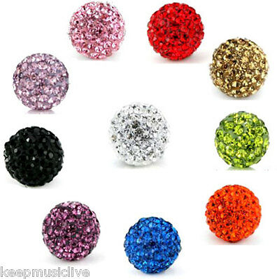6MM Shamballa BEAD -  Pave Clay Crystal  Beads - Assorted colours available