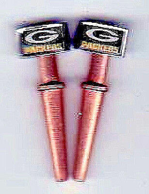 """2 G.B.Packers Green """"Big-G""""  USA  Metal Cribbage Pegs Copper&S.Steel W/Pouch  a"""