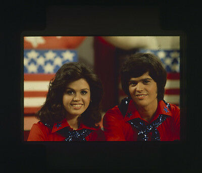 Donnie and Marie Osmond vintage original photo portrait 35mm slide transparency