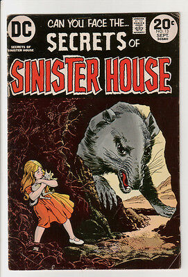 Secrets of SINISTER HOUSE #13 (Sept 1973) Good- CONDITION Comic Book
