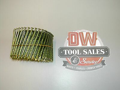 """3"""" 10d Screw Shank 15 Degree Coil Nails Wire Weld (3,600)"""