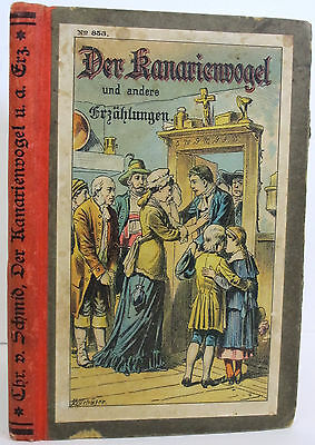 GERMAN Binding ILLUSTRATED Antique TALES Color Plates STORIES Old CHILDREN Vtg