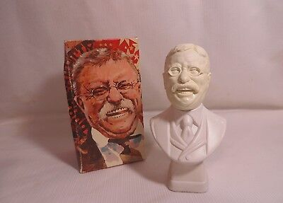 Vintage 70s Avon Mens President Theodore Roosevelt Tai Winds After Shave Gift