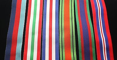 "WW2 Canadian Italy Medal Set, FS (32mm) Replacement Ribbon, 6"" for Swing Mount"
