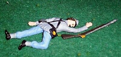 TOY SOLDIERS  TIN AMERICAN CIVIL WAR DEAD CONFEDERATE SOLDIER 54MM