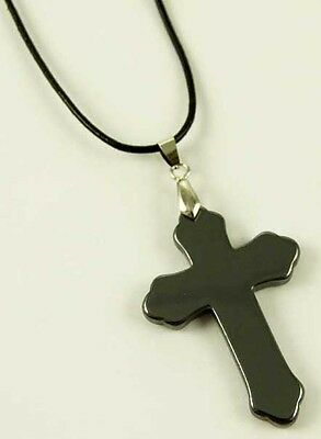 Hematite Cross Pendant On Necklace In Gift Box