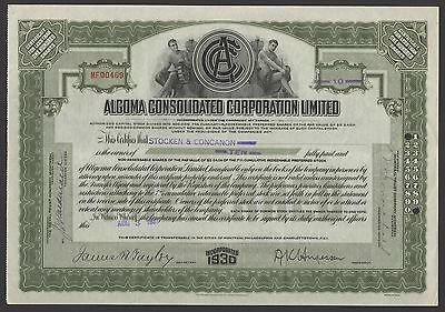 Algoma Consolidated Corporation Ltd., pref. stock, less than 100 shares, 1931