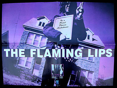 THE FLAMING LIPS In A Priest Driven Ambulance 1990 Restless Records PROMO POSTER