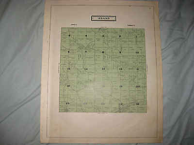 Antique 1914 Adams Township Guernsey County Ohio Map W Land Owners Rare Nr