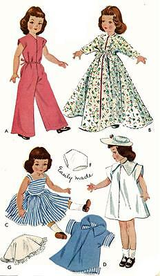 Vintage Doll Clothes Pattern 1728 for 16 inch Betsy McCall by American Character