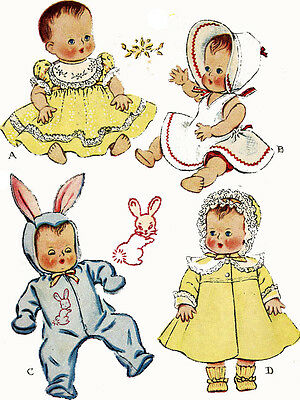 Vintage Doll Clothes Pattern 1657 for 13 inch Tiny Tears Betsy Wetsy by Ideal