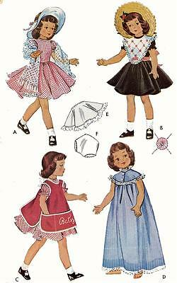 Vintage Doll Clothes Pattern 1812 for 14 inch Betsy McCall by American Character