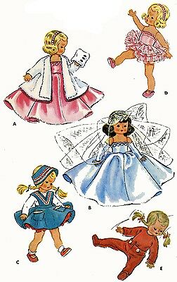 Vintage Doll Clothes Pattern 1965 for 9  in Ginny Muffie Alexander Kin by Vogue