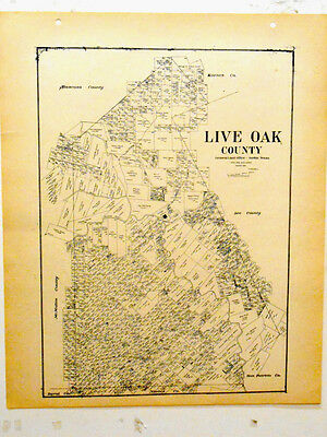 Old Live Oak County Texas General Land Office Owner Map Oakville George West
