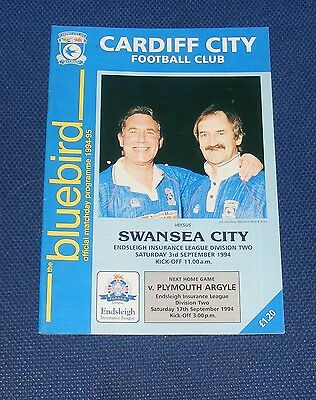 Cardiff City -v- Swansea City  1994-1995