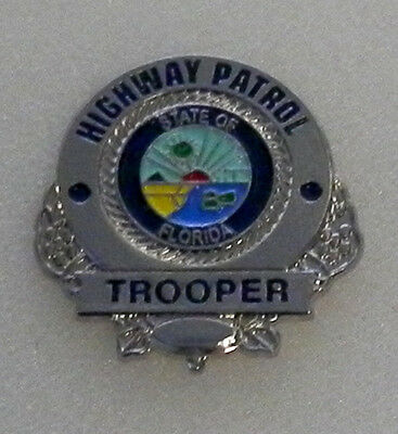 Florida FL Highway Patrol TROOPER mini badge LAPEL PIN FLHP (state police)