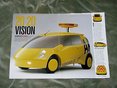 1998 Aa Patrol 2020 Concept Van Magazine Article Reprint (Coventry University)