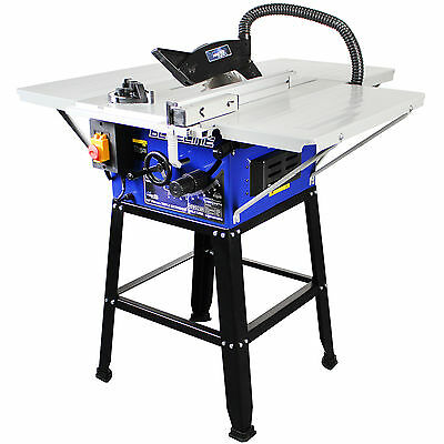 """Pingtek Blueline 250mm (10"""") Bench Table Saw with 3 Extensions & Leg Stand"""