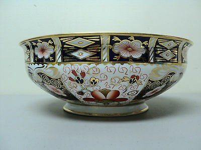 "VINTAGE ROYAL CROWN DERBY IMARI #2451 LARGE 10"" BOWL, c. 1937"