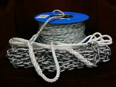 Anchor Winch Rope and Chain 6mm x 100Mtr - Drum Winch