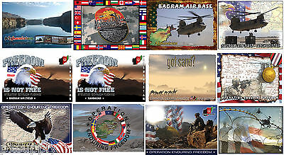 military postcards set of 25 afghanistan oef enduring freedom cards