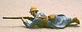 TOY SOLDIERS METAL WORLD WAR 1 WWI FRENCH SOLDIER LAYING PRONE 54MM