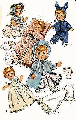 Dydee Betsy Wetsy Tiny Tears Doll Clothes PATTERN 2183 for 19-21 inch by Ideal