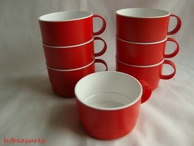 Retro Mid Century United Airlines Set-7 Stackable Tray  Cups-Mugs