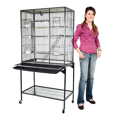 Bird Cage Large Play Parrot Finch Cage Macaw Cockatoo Bird Exotic Pet Black Vein