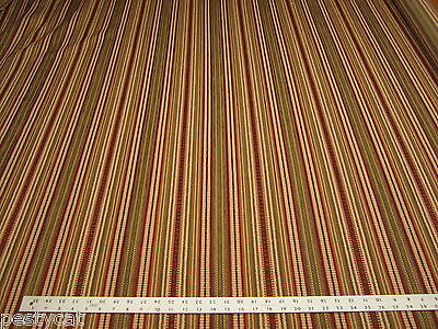 6 5/8 yards textured chenille mix stripe upholstery fabric r1201