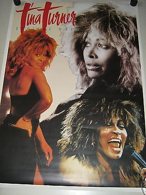 """Tina Turner / Orig.Import poster collage - Typical Male - Exc. New cond. 24x36"""""""