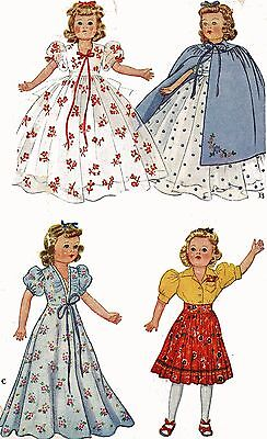 Vintage Doll Clothes PATTERN 918 for 15 in F & B Little Lady doll by Effanbee