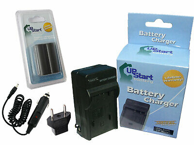 Battery +Charger +Car Plug + EU Adapter for Canon EOS-20D, EOS-300D