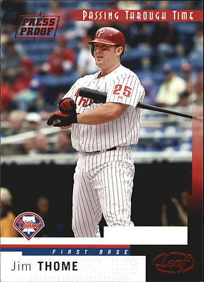 2004 Leaf Press Proofs Red #269 Jim Thome Phillies