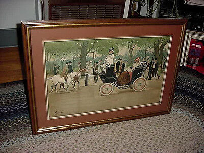 """Vintage Lance Thackeray """"carriage Ride In The Park   ** Mint **"""