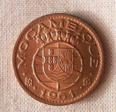 1961 MOZAMBIQUE 20 CENTAVOS - AU/UNC RED - Exotic Coin - FREE SHIPPING