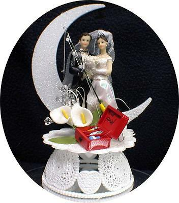Fish Fishing Wedding Cake Topper Red Cooler Ice Lite Beer