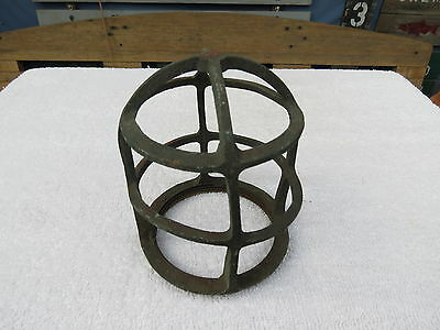 5+1/4 Inch Tall Bronze Light Cage Frame Boat Ship Brass (#7)
