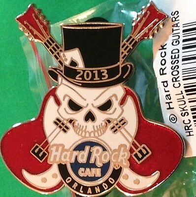 Hard Rock Cafe/Live ORLANDO 2013 SKULL Crossed GUITARS Error PIN Wrong Logo!