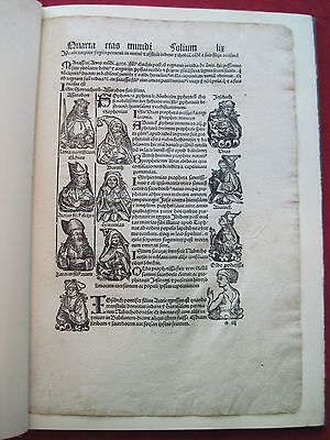 Original Leaf Book From The 1497 Nuremberg Chronicle - Incunabula
