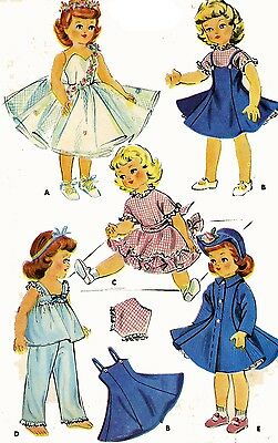 Vintage Doll Clothes Pattern 1983 for 14 15 inch Sweet Sue Toni by Alexander