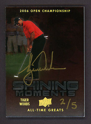 2012 Upper Deck TIGER WOODS All Time Greats AUTOGRAPH Hand #ed 2/5