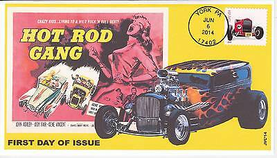 Jvc Cachets - 2014 Hot Rods Issue First Day Cover Fdc Topicals Cars Racing #1