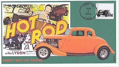 Jvc Cachets - 2014 Hot Rods Issue First Day Cover Fdc Topicals Cars Racing #2