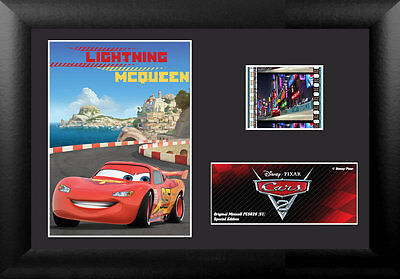 Film Cell Genuine 35mm Framed  Matted Disney Pixar Cars 2 Lightning McQueen 5629