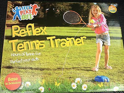 Tennis trainer reflex garden child's kids play toy practice ball set game shot